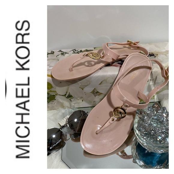 Michael Kors pink jelly sandals